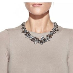 EyeCandy LA Modern Geometric Enamel Stone Necklace